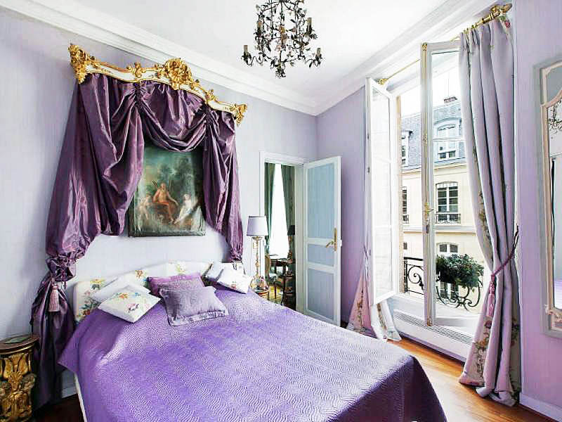 Camera Da Letto Stile Parigi : Elegante scuro camera da letto di lusso rosso stile paris